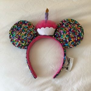 BRAND NEW Sequin Birthday Mickey Mouse Ears